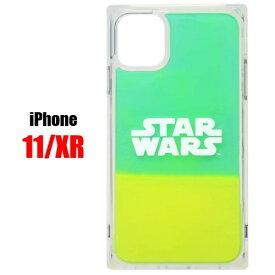 ロゴ グリーン イエロー スターウォーズ STAR WARS iPhone 11 XR スマホ ケース ネオンサンドケースPG-DLQ19B15SWiPhoneケース iPhone11 iPhoneXR アイフォン スマホケース アイフォンケース 携帯 ネオン サンド 耐衝撃 可愛い おしゃれ