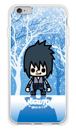 【光沢なし】 ナルト疾風伝シリーズ NARUTO×PansonWorks 冬景色 うちはサスケ (ソフトTPUクリア) / for iPhone 6 Plus/Appleアップル iphone6 plus iphone6 plus ケース iphone6 plus カバー アイフォーン6プラス ケース アイフォーン6プラス カバー