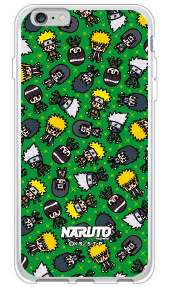ナルト疾風伝シリーズ NARUTO×PansonWorks オールスターズ (グリーン) (ソフトTPUクリア) / for iPhone 6s Plus/Appleiphone6splus ケース iphone6splus カバー iphone 6s plus ケース iphone 6s plus カバー アイフォン6sプラス ケース アイフォン6sプラス カバー