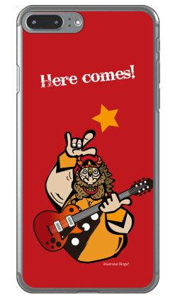 【送料無料】 Rockおやじ 赤 (クリア) design by Ringo / for iPhone 8 Plus/7 Plus/Apple 【Coverfull】アップル iphone8 plus iphone7 plus ケース カバー アイフォーン8プラス アイフォーン7プラス ケース アイフォーン8プラス アイフォーン7プラス