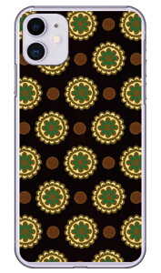 【送料無料】 フラワースポット チョコレートグリーン (クリア) / for iPhone 11/Apple 【Coverfull】【平面】【受注生産】【スマホケース】【ハードケース】アップル iphone11 iphone11 ケース iphone11