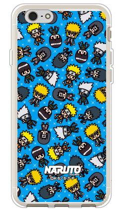ナルト疾風伝シリーズ NARUTO×PansonWorks オールスターズ (ブルー) (ソフトTPUクリア) / for iPhone 6s/Appleiphone6s ケース iphone6s カバー iphone 6s ケース iphone 6s カバー アイフォーン6s ケース アイフォーン6s カバー アイフォン6s ケース