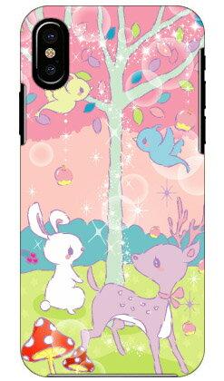 【送料無料】 Milk's Design しらくらゆりこ 「メルヘンな森」 / for iPhone X/Apple 【Coverfull】【ハードケース】iphoneX ケース iphoneX カバー iphone X ケース iphone X カバーアイフォーン10 ケース アイフォーン10 カバー iphoneケース iphoneカバー