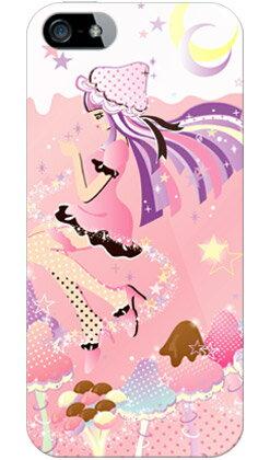 【送料無料】 Milk's Design しらくらゆりこ 「ストロベリーきのこガール」 / for iPhone SE/5/au 【Coverfull】【全面】【ハードケース】iPhone5カバー/アイフォン5/iphone5ケース/アイフォン 5/スマートフォン/スマホケース/ケース/エーユー