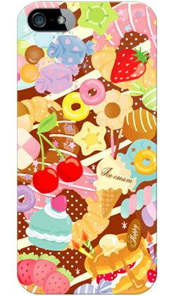 【送料無料】 Milk's Design しらくらゆりこ 「Sweet time」 / for iPhone SE/5/au 【Coverfull】【全面】【スマホケース】【ハードケース】iPhone5カバー/アイフォン5/iphone5ケース/アイフォン 5/スマートフォン/スマホケース/ケース/エーユー
