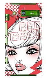 【送料無料】 池田ハル 「Red ribbon」 / for URBANO L03/au 【SECOND SKIN】【受注生産】【スマホケース】【ハードケース】urbano l03 カバー urbano l03 ケース l03カバー l03ケース アルバーノ l03 カバー アルバーノ l03 ケース l03 カバー l03 ケース 携帯 カバー