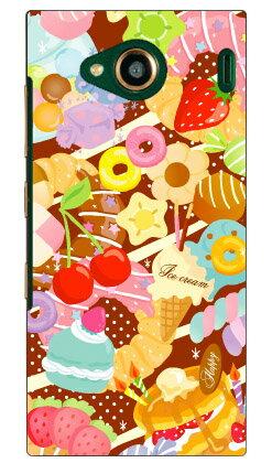 【送料無料】 Milk's Design しらくらゆりこ 「Sweet time」 / for URBANO V03/au 【Coverfull】【ハードケース】urbano v03 ケース urbano v03 カバー アルバーノv03ケース アルバーノv03カバー スマホケース スマホカバー タフネススマホ android アンドロイド au