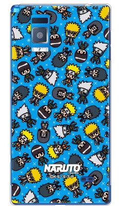 ナルト疾風伝シリーズ NARUTO×PansonWorks オールスターズ (ブルー) (クリア) / for Optimus G LGL21/au 【スマホケース】【ハードケース】Optimus G LGL21 スマホ スマートフォン スマフォ携帯カバー オプティマスg lgl21 カバー