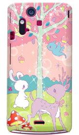 【送料無料】 Milk's Design しらくらゆりこ 「メルヘンな森」 / for Xperia acro IS11S/au 【Coverfull】【全面】【スマホケース】【ハードケース】XPERIA acro エクスペリア アクロ カバー エクスぺリア スマートフォンケース Cover カバー