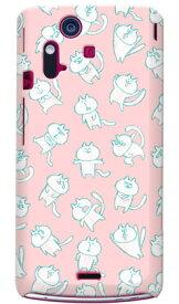 【送料無料】 uistore 「loosey cat (Pink)」 / for Xperia acro IS11S/au 【SECOND SKIN】【全面】【受注生産】【スマホケース】【ハードケース】XPERIA acro エクスペリア アクロ カバー エクスぺリア スマートフォンケース Cover カバー