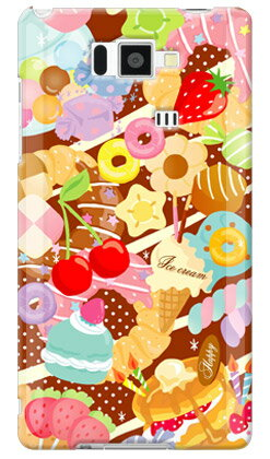 【送料無料】 Milk's Design しらくらゆりこ 「Sweet time」 / for AQUOS PHONE SERIE ISW16SH/au 【Coverfull】au is16sh カバー is16sh ケース アクオスフォン カバー is16sh アクオスフォン ケース is16sh aquos phone is16sh カバー aquos phone is16sh