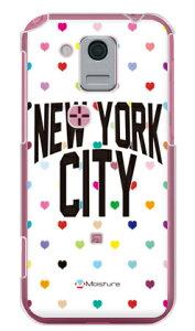【送料無料】 NYC マルチハートドットホワイト (クリア) design by Moisture / for IS05/au 【SECOND SKIN】au スマホケース スマホカバー is05 ケース is05 カバー is05ケース is05カバー コンパクト 小さい kd