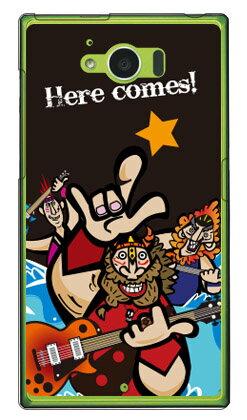 【送料無料】 Rockおやじ (クリア) design by Ringo / for AQUOS SERIE SHV32/au 【Coverfull】【ハードケース】shv32 ケース shv32 カバー aquos serie shv32 ケース aquos serie shv32 カバー au スマートフォン カバー aquos アクオスセリエ ケース