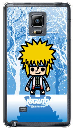 ナルト疾風伝シリーズ NARUTO×PansonWorks 冬景色 波風ミナト (クリア) / for GALAXY Note Edge SC-01G/docomosc01g ケース sc01g カバー galaxy note edge sc-01g ケース galaxy note edge sc-01g カバー galaxy note edge