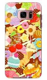 【送料無料】 Milk's Design しらくらゆりこ 「Sweet time」 / for Galaxy S7 edge SC-02H・SCV33/docomo・au 【Coverfull】galaxy s7 edge sc-02h ケース galaxy s7 edge sc-02h カバー galaxy s7 edge scv33 ケース galaxy s7 edge scv33