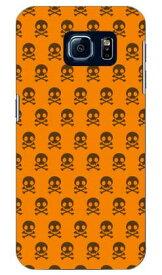【送料無料】 スカル柄 オレンジ×ブラウン design by ARTWORK / for Galaxy S6 SC-05G/docomo 【Coverfull】sc-05g ケース sc-05g カバー sc-05gケース sc-05g カバー galaxy s6 ケース galaxy s6 カバー ギャラクシーs6 ケース ギャラクシーs6 カバー ドコモ