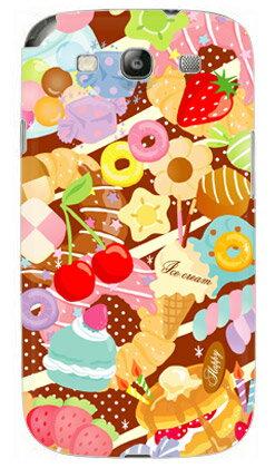 【送料無料】 Milk's Design しらくらゆりこ 「Sweet time」 / for GALAXY S III α SC-03E/docomo 【Coverfull】【カバフル】【全面】【受注生産】【スマホケース】【ハードケース】GALAXY S3 α カバー ギャラクシーS3α カバー Cover