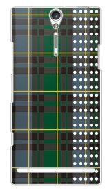 【送料無料】 ブラックウォッチドット イエロー (クリア) / for Xperia NX SO-02D/docomo 【SECOND SKIN】【スマホケース】【ハードケース】ドコモ so-02d ケースso-02d カバー so02dケース so02dカバー xperia nx so-02d ケース エクスペリア nx