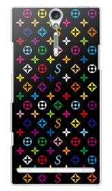 【送料無料】 Monogram ブラック (クリア) design by ROTM / for Xperia NX SO-02D/docomo 【SECOND SKIN】【スマホケース】【ハードケース】ドコモ so-02d ケースso-02d カバー so02dケース so02dカバー xperia nx so-02d ケース エクスペリア nx