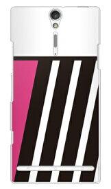 【送料無料】 PINK & BLACK ピンク (クリア) design by ROTM / for Xperia NX SO-02D/docomo 【SECOND SKIN】【スマホケース】【ハードケース】ドコモ so-02d ケースso-02d カバー so02dケース so02dカバー xperia nx so-02d ケース エクスペリア nx