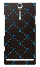【送料無料】 S Monogram ブラック×ブルー (クリア) design by ROTM / for Xperia NX SO-02D/docomo 【SECOND SKIN】【ハードケース】ドコモ so-02d ケースso-02d カバー so02dケース so02dカバー xperia nx so-02d ケース エクスペリア nx