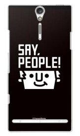 【送料無料】 SAY PEOPLE!シリーズ シンプルロゴ design by PansonWorks / for Xperia NX SO-02D/docomo 【スマホケース】【ハードケース】ドコモ so-02d ケースso-02d カバー so02dケース so02dカバー xperia nx so-02d ケース エクスペリア nx
