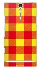 【送料無料】 Buffalo check イエロー (クリア) design by Moisture / for Xperia NX SO-02D/docomo 【SECOND SKIN】【ハードケース】ドコモ so-02d ケースso-02d カバー so02dケース so02dカバー xperia nx so-02d ケース エクスペリア nx