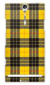 【送料無料】 Tartan check イエロー (クリア) design by Moisture / for Xperia NX SO-02D/docomo 【SECOND SKIN】【ハードケース】ドコモ so-02d ケースso-02d カバー so02dケース so02dカバー xperia nx so-02d ケース エクスペリア nx