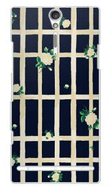 【送料無料】 SINDEE 「Flower Grid (ネイビー)」 (クリア) / for Xperia NX SO-02D/docomo 【SECOND SKIN】【スマホケース】【ハードケース】ドコモ so-02d ケースso-02d カバー so02dケース so02dカバー xperia nx so-02d ケース エクスペリア nx