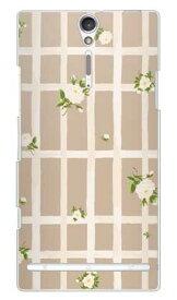 【送料無料】 SINDEE 「Flower Grid (ベージュ)」 (クリア) / for Xperia NX SO-02D/docomo 【SECOND SKIN】【スマホケース】【ハードケース】ドコモ so-02d ケースso-02d カバー so02dケース so02dカバー xperia nx so-02d ケース エクスペリア nx