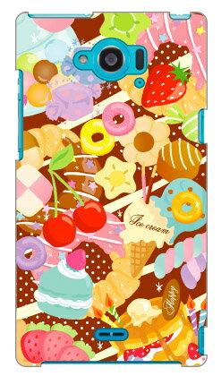 【送料無料】 Milk's Design しらくらゆりこ 「Sweet time」 / for Disney Mobile on docomo SH-02G/docomo 【Coverfull】sh02g カバー sh02g ケース disney mobile on docomo sh-02g ケース ディズニーモバイル sh-02g ケース ディズニーモバイル ドコモ ケース sh-02g