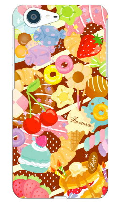 【送料無料】 Milk's Design しらくらゆりこ 「Sweet time」 / for AQUOS ZETA SH-04H・SHV34・506SH・STAR WARS mobile/docomo・au・SoftBank 【Coverfull】sh-04h ケース sh-04h カバー docomo ドコモ shv34 ケース shv34 カバー au 506sh ケース 506sh カバー