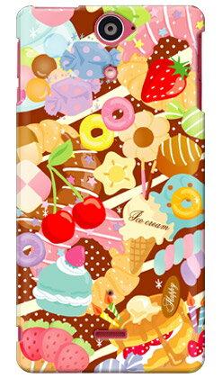 【送料無料】 Milk's Design しらくらゆりこ 「Sweet time」 / for Xperia AX SO-01E/docomo 【Coverfull】【全面】【スマホケース】【ハードケース】xperia ax カバー エクスぺリアax スマホケースエクスぺリアax カバー カスタムケース