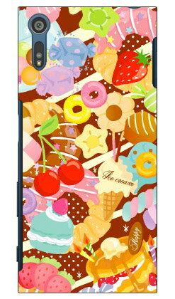 【送料無料】 Milk's Design しらくらゆりこ 「Sweet time」 / for Xperia XZ SO-01J・SOV34・601SO/docomo・au・SoftBank 【Coverfull】SO-01 ケース SO-01 カバー SOV34 ケース SOV34 カバー 601SO ケース 601SO カバー xperia xz