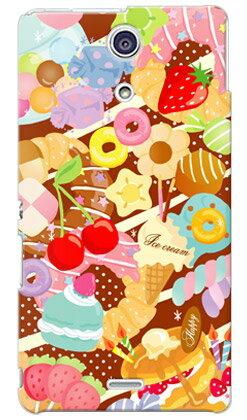 【送料無料】 Milk's Design しらくらゆりこ 「Sweet time」 / for Xperia A SO-04E/docomo 【Coverfull】【全面】xperia a ケース カバー エクスぺリアa Case Cover ケース カバー スマホケース スマホカバー XPERIA A ケース CASE so-04e