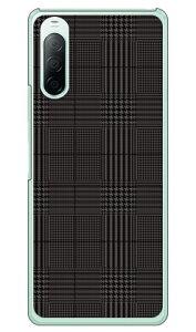 【送料無料】 グレンチェック ブラック×グレー (クリア) / for Xperia 10 II SO-41A・SOV43・A001SO/docomo・au・Y!mobile 【SECOND SKIN】【ハードケース】xperia 10 II ケース xperia 10 II カバー so-41a ケース so-41