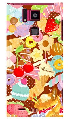 【送料無料】 Milk's Design しらくらゆりこ 「Sweet time」 / for REGZA Phone T-02D/docomo 【Coverfull】【全面】【ハードケース】スマホケース スマートフォン スマホ ケース カバー Case/Cover レグザフォン/レグザ T-02D ケース