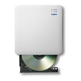 【送料無料】 Logitec(ロジテック) 5GHz WiFi CD録音ドライブ LDR-PS5GWU3RWHスマホ 簡単 録音 CD ストリーミング再生 曲情報 自動取得 gracenote 歌詞検索 音質設定 データバックアップ 復元 パソコン接続 ディスクドライブ