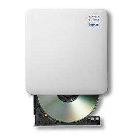 【送料無料】 Logitec(ロジテック) 2.4GHz WiFi CD録音ドライブ LDR-PS24GWU3RWHスマホ 簡単 録音 CD ストリーミング再生 曲情報 自動取得 gracenote 歌詞検索 音質設定 データバックアップ 復元 パソコン接続 ディスクドライブ