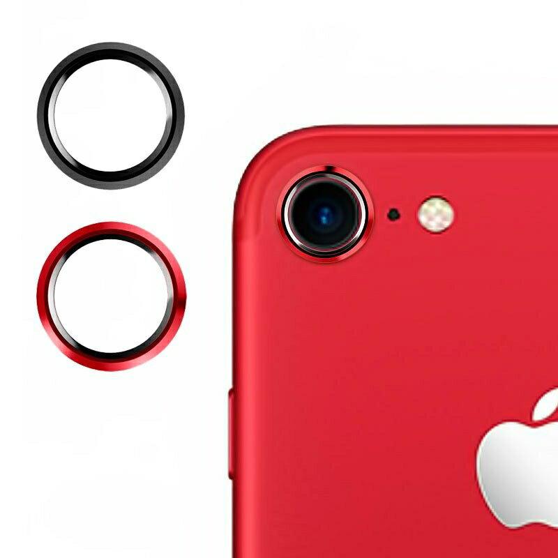 M's Select. iCamera PROTECTOR iPhone7専用カメラプロテクターマッドブラック マッドレッド 2色セット カメラ保護
