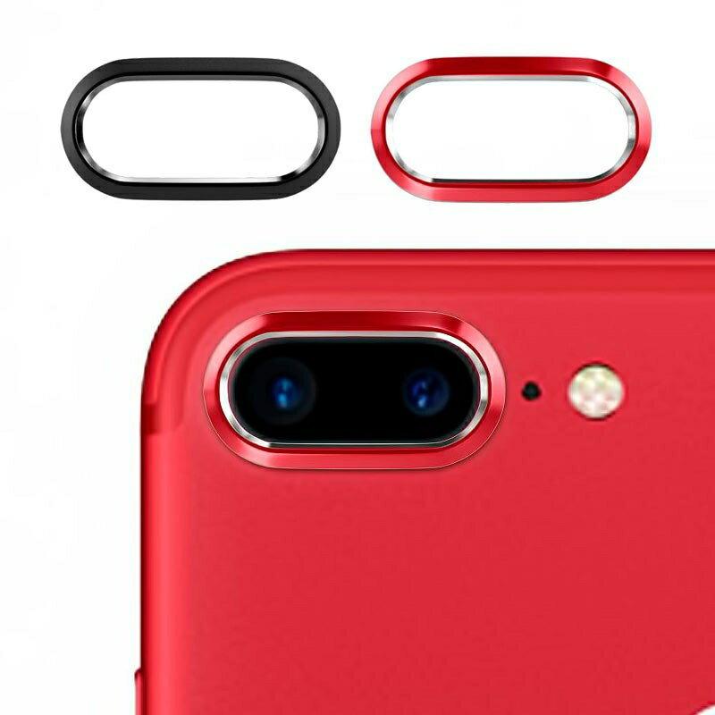 M's Select. iCamera PROTECTOR iPhone7 PLUS 専用カメラプロテクター マッドブラック マッドレッド 2色セットカメラ保護