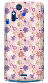 【送料無料】 ファブリックフラワー ピンク produced by COLOR STAGE / for Xperia acro SO-02C/docomo 【Coverfull】【スマホケース】【ハードケース】xperia acro ケース カバー エクスペリア アクロ エクスぺリア Case Cover スマートフォンケース スマホケース