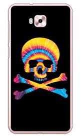 【送料無料】 Psychedelic skull ブルー×イエロー (クリア) design by ROTM / for ZenFone 4 Selfie ZD553KL/MVNOスマホ(SIMフリー端末) 【SECOND SKIN】zenfone 4 selfie ケース zenfone 4 selfie カバー zd553kl ケース zd553kl カバー