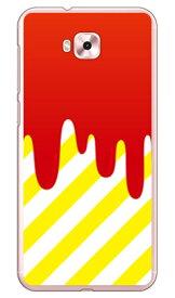 【送料無料】 DRIP レッド/イエロー (クリア) / for ZenFone 4 Selfie ZD553KL/MVNOスマホ(SIMフリー端末) 【SECOND SKIN】zenfone 4 selfie ケース zenfone 4 selfie カバー zd553kl ケース zd553kl カバー ゼンフォン4セルフィー ケース