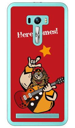 【送料無料】 Rockおやじ 赤 (クリア) design by Ringo / for ZenFone Selfie ZD551KL/MVNOスマホ(SIMフリー端末) 【Coverfull】zenfone selfie ケース zenfone selfie カバー ゼンフォンセルフィー ケース ゼンフォンセルフィー カバー selfieケース