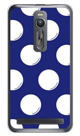 【送料無料】 ドットフライ ネイビー×ホワイト (クリア) / for ZenFone 2 ZE551ML/MVNOスマホ(SIMフリー端末) 【SECOND SKIN】zenfone2 ケース zenfone2 カバー zenfone2ケース zenfone2カバー ゼンフォン2 ケース ゼンフォン2 カバー 楽天モバイル
