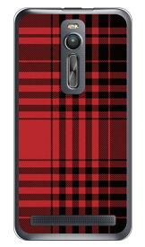 【送料無料】 チェック レッド×ブラック (クリア) / for ZenFone 2 ZE551ML/MVNOスマホ(SIMフリー端末) 【SECOND SKIN】zenfone2 ケース zenfone2 カバー zenfone2ケース zenfone2カバー ゼンフォン2 ケース ゼンフォン2 カバー 楽天モバイル ケース