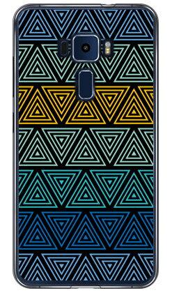 【送料無料】 トライアングル ブルー (ソフトTPUクリア) / for ZenFone 3(5.5インチ) ZE552KL/MVNOスマホ(SIMフリー端末) 【YESNO】zenfone 3 ze552kl ケース zenfone 3 ze552kl カバー ze552klケース ze552klカバー ゼンフォン3ケース