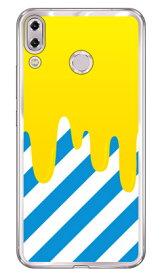 【送料無料】 DRIP イエロー/ブルー (ソフトTPUクリア) / for ZenFone 5 ZE620KL・ZenFone 5Z ZS620KL/MVNOスマホ(SIMフリー端末) 【SECOND SKIN】asus zenfone 5 zenfone 5z ze620kl zs620kl 専用ケース ze620kl zs620kl ケース ze620kl