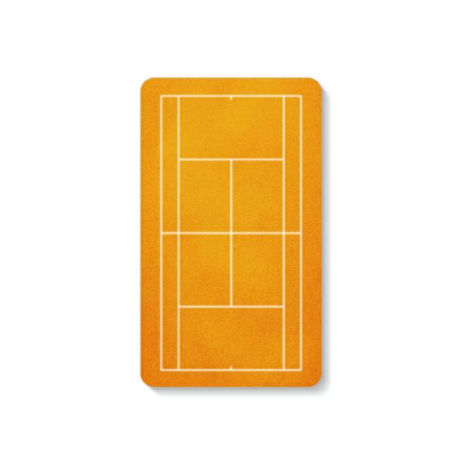 【送料無料】 モバイルバッテリー 4000mAh 充電器 テニスコート オレンジ 【Coverfull】 4000mAh microUSBケーブル付き 充電器 iPhone アイフォン Android アンドロイド